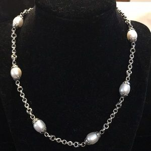 Scott Kay Jewelry - Scott Kay Sterling Silver and Pearl Necklace